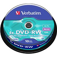 Verbatim DVD-RW 4x, 10ks CakeBox - Médiá