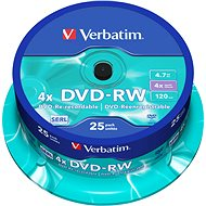 Verbatim DVD-RW 4x, 25ks CakeBox - Médiá