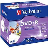 Verbatim DVD + R 16x, Printable 10ks v krabičke - Médiá