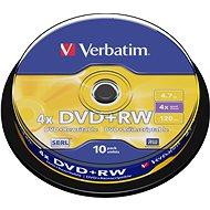 Verbatim DVD+RW 4x, 10 ks cakebox - Médiá