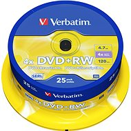 Verbatim DVD + RW 4x, 25ks CakeBox - Médiá