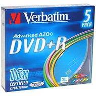 Verbatim DVD + R 16x, COLOURS 5ks v SLIM krabičke - Médiá