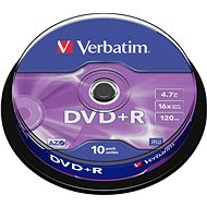 Verbatim DVD + R 16x, 10ks CakeBox - Médiá