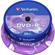 Verbatim DVD + R 16x, 25 ks CakeBox - Médiá