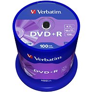 Verbatim DVD + R 16x, 100ks CakeBox - Médiá