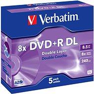 Verbatim DVD+R 8x, Dual Layer 5ks v krabičke - Médiá