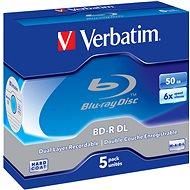 Verbatim BD-R 50 GB Dual Layer 6x, 5 ks v škatuľke - Médiá