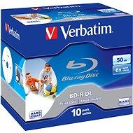 Verbatim BD-R 50GB Dual Layer Printable 6x, 10ks v krabičke - Médiá