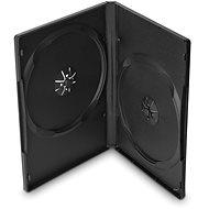 Krabička na 2 ks, čierna, 14 mm,10 ks/bal - Obal na DVD