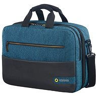 "American Tourister CITY DRIFT 3-WAY BOARDING BAG 15.6"" BLACK/BLUE - Taška na notebook"