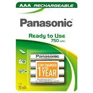 Panasonic Ready to Use AAA HHR-4MVE/4BC 750 mAh 3 + 1 ZADARMO - Akumulátory