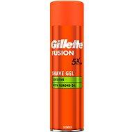GILLETTE Fusion Sensitive gél na holenie 200 ml - Gél na holenie