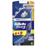 Gillette Blue3 6 + 2 ks - Holiace strojčeky