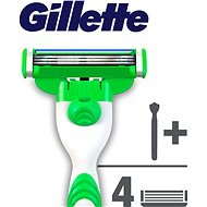 GILLETTE Mach3 Sensitive + hlavice 4 ks - Holiaci strojček