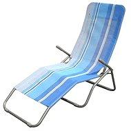 Happy Green Plážové ležadlo modrý pruh - Ležadlo