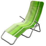 Happy Green Plážové ležadlo zelený pruh - Ležadlo