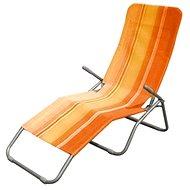 Happy Green Plážové lehátko oranžový pruh - Ležadlo