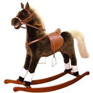 Bino Veľký plyšový hojdací kôň - hnedý - Hojdačka