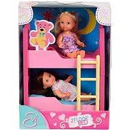 Dve Evičky s poschodovou posteľou a príslušenstvom - Súprava bábik