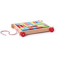 Woody Vozík s kockami malý - Didaktická hračka