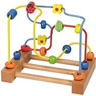 Woody Veľký motorický labyrint - Lienka - Didaktická hračka