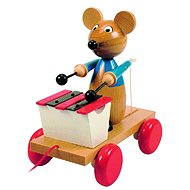 Woody Ťahacia myš s xylofónom - Ťahacia hračka