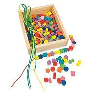 Woody Navliekacie perly v krabičke - Didaktická hračka