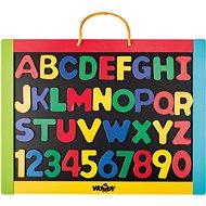 Woody Magnetická tabuľa s písmenami - Tabuľa