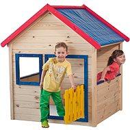 Záhradný domček s farebným lemovaním - Detský domček