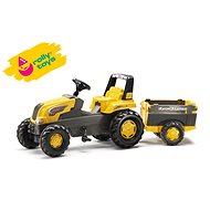 Šliapací traktor Rolly Junior s Farm vlečkou - žltý - Šliapací traktor