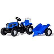 Šliapací traktor Rolly Kid Landini modrý s vlekom - Šliapací traktor