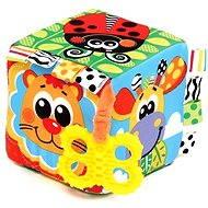 Playgro - Hrkajúca kocka s hryzadlom - Hrkálka a hryzadlo