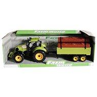 Traktor s prívesom zelený