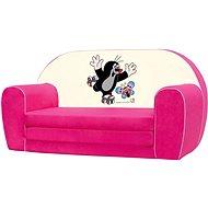 Bino Mini-pohovka ružová – Krtko - Detský nábytok