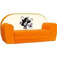 Bino Mini-pohovka oranžová – Krtko - Detský nábytok