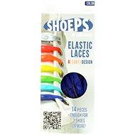 Shoeps - Silikónové šnúrky modré - Súprava šnúrok