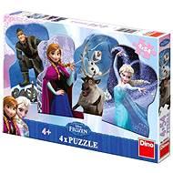 Ľadové kráľovstvo 4x54 dielikov - Puzzle