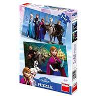 Ľadové kráľovstvo 2x66 dielikov - Puzzle