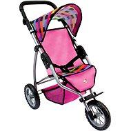Bino Trojkolesový kočík pre bábiky – farebný - Kočík pre bábiky