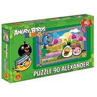 Angry Birds Rio - Na trhovisku v Riu 90 dielikov - Puzzle