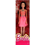 Mattel Barbie Brunetka v broskových šatách - Bábika