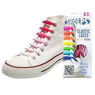 Shoeps - Silikónové šnúrky mix pink - Súprava šnúrok
