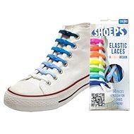 Shoeps - Silikónové šnúrky mix blue - Súprava šnúrok