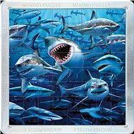 3D Magnetické puzzle Žraloky - Skladačka