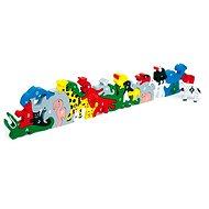 Drevené hračky - Zvieratá s písmenami a číslicami - Herná súprava