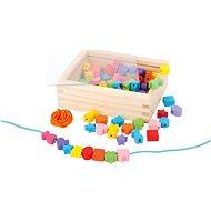 Drevené navliekacie korálky v krabičke - Kreatívna súprava