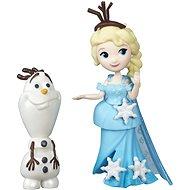Ľadové kráľovstvo - Malá bábika s kamarátom Elsa a Olaf - Bábika