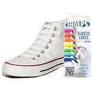 Shoeps – Silikónové šnúrky XL biele - Súprava šnúrok