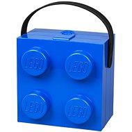 LEGO box s rukoväťou 166 x 165 x 117 mm - modrý - Úložný box