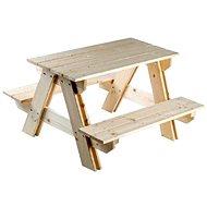 Drevená súprava stolík + lavica - Súprava